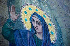 Travail de mosaïque du sauveur sur le temple de sang Photos libres de droits