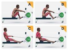 Travail de muscle sur l'aviron illustration de vecteur
