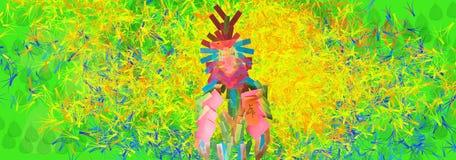 Travail de note d'amour de perroquet de Rio Photos stock