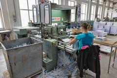 Travail de personnes dans la typographie Kiev, Ukraine photo libre de droits