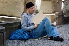 Travail de recherche sans emploi Photo libre de droits