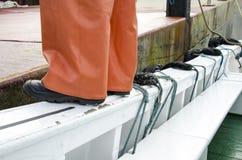 Travail de sécurité - chaussures de sécurité Image libre de droits