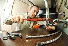 Travail de ta de plombier Photographie stock libre de droits