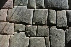 Travail de tailleur de pierre d'Inca Photographie stock