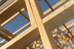 Travail de trame en bois Photographie stock libre de droits
