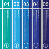 Travail de vecteur, calibre abstrait de bannière pour la conception et OE créatif Photo libre de droits