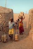 Travail de zone de brique en Inde Photo libre de droits