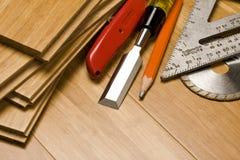 Travail du bois et outils Photos libres de droits