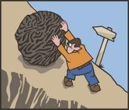 Travail dur de Sisyphean Images stock