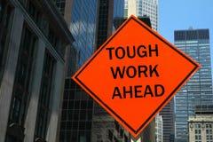 Travail dur en avant Image libre de droits