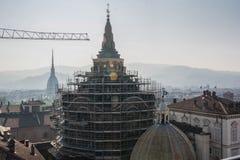 Travail en cours à Turin Photo libre de droits