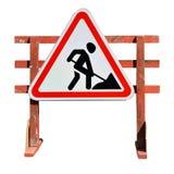 Travail en cours roadworks Images libres de droits