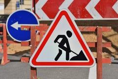 Travail en cours roadworks Photographie stock libre de droits