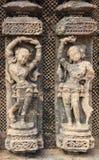 Travail en pierre chez Konark Temple-3 photographie stock