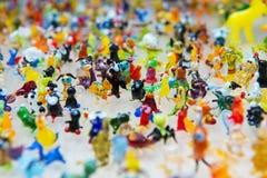 Travail en verre des chiffres minuscules des animaux images libres de droits