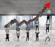 Travail ensemble pour la croissance Image libre de droits