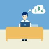 Travail et argent illustration libre de droits