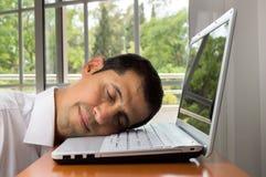 Travail et sommeil Photographie stock libre de droits
