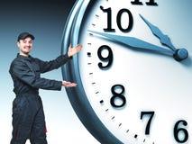 Travail et temps Image libre de droits