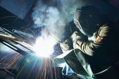 Travail industriel de soudure à l'arc électrique Image stock