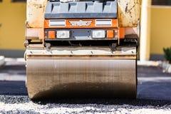 Travail manuel de surfaçage d'asphalte Image stock