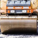 Travail manuel de surfaçage d'asphalte Photographie stock libre de droits
