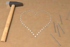 Travail manuel de valentines Photo stock