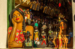 Travail manuel du Bahia, Brésil Photos stock