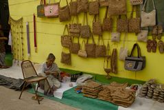 Travail manuel, le Bengale-Occidental, Inde image stock