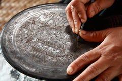 Travail manuel traditionnel Myanmar Photos stock