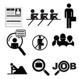 Travail1. Some stickers and pictogramm about work, job and unemployement Royalty Free Stock Photo