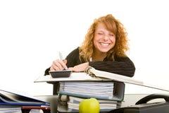 travail souriant d'un air affecté Images libres de droits