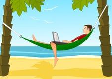 Travail sur une plage Illustration Stock