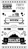 Travail typographique d'affiche Photos libres de droits