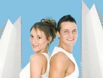 Travail venez avec les couples rêveurs Image libre de droits