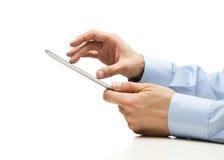 Travailler à la tablette digitale Image stock
