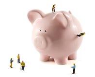 Travailler à votre argent Photographie stock