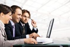 Travailler d'hommes d'affaires Image libre de droits