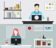 Travailler de personnes de bureau illustration libre de droits