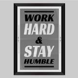 Travailler dur et séjour humble Photos libres de droits