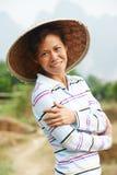 Travailleur agricole chinois de ferme Photos stock