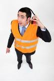 Travailleur d'aéroport photo libre de droits
