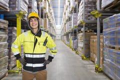 Travailleur d'entrepôt photographie stock