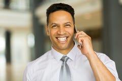 Travailleur d'entreprise de sexe masculin Photos stock