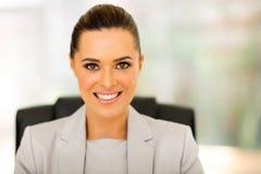 Travailleur d'entreprise féminin Image libre de droits