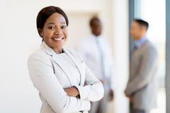 Travailleur d'entreprise féminin africain Images stock