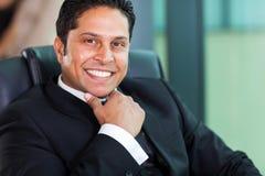 Travailleur d'entreprise indien Photo stock