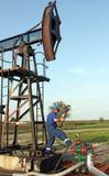 Travailleur d'huile Photographie stock libre de droits