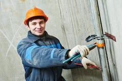 Travailleur d'ingénieur de plombier Image libre de droits