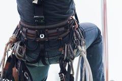 Travailleur d'irata d'accès de corde photo libre de droits
